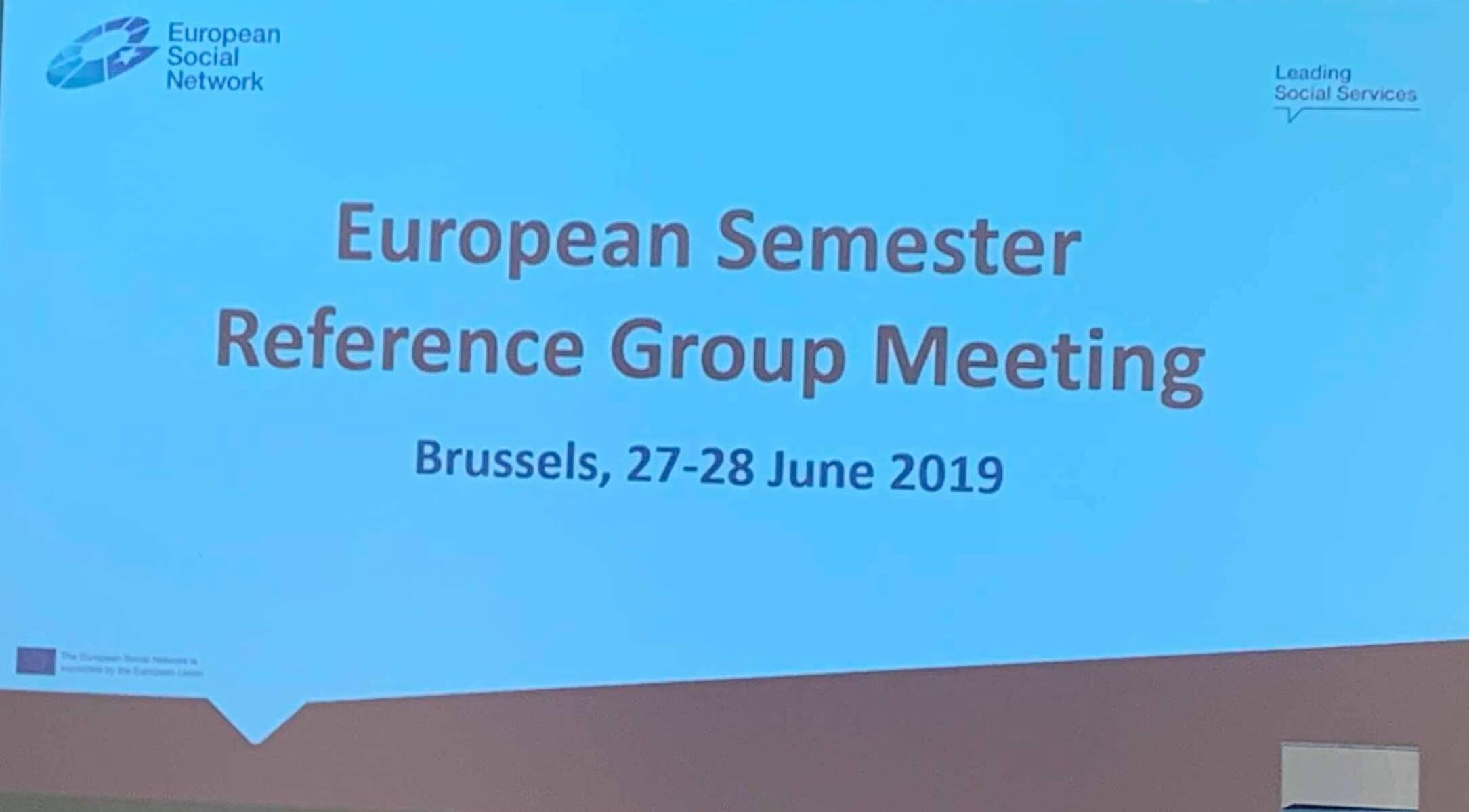 Semestrul European, 27-28 iunie 2019 – Întâlnirea Grupului de Referință